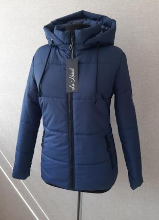 Демисезонная,зимняя куртка,курточка,короткая,тонкий пуховик,дутик, с вставками s,m,l,xl