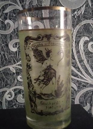 Glucksgottin fortuna стакан ссср антиквариат ретро богемия фортуна