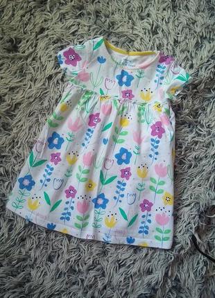 Платье на девочку 12-18 месяцев, рост 80-86см