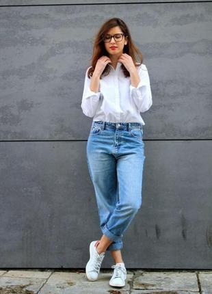 Светло голубые джинсы 54рр, мами джинс