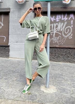 Италия штаны + блузка ( кюлоты) костюм