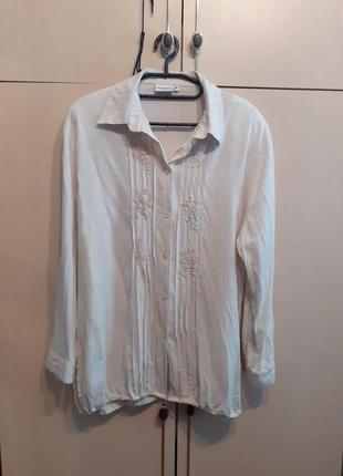Рубашка лен vroom dreesmann