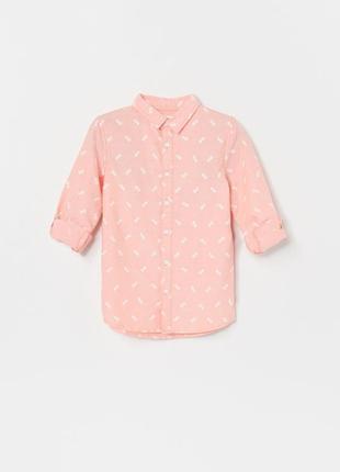 Хлопковая рубашка для мальчика 110-164