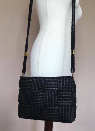 Сумка кросс боди клатч нарядная  в стиле bottega veneta производство италия