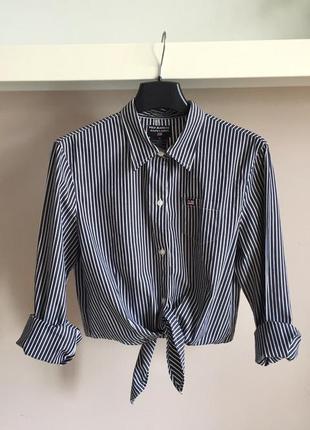 Короткая рубашка на завязках