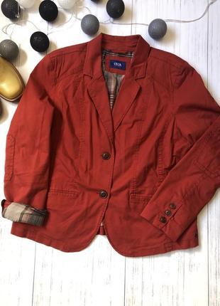 Базовый яркий жакет пиджак батал куртка cecil