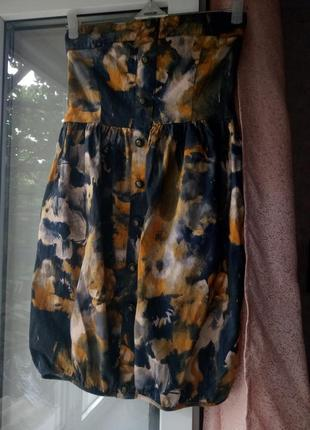 Трендовый сарафан платье на пуговицах vero moda