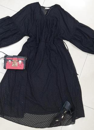 Шикарное шифоновое платье батал