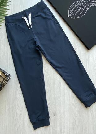 Синие трикотажные подростковые спортивные штаны джоггеры для мальчика piazza italia италия