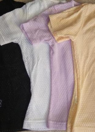 Абалденные фирменные ажурные футболки, осталась бежевая :)))