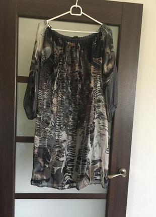 Пляжная туника платье шелк
