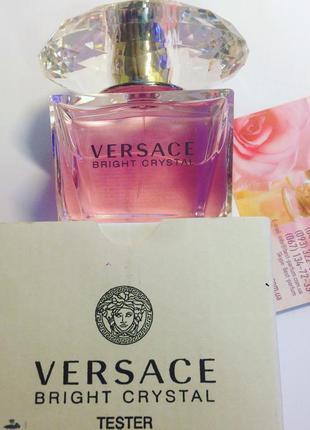 Versace bright crystal туалетная вода 90 ml тестер оригинал италия