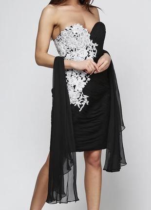 Вечернее шикарное платье jovani, кружева пайетка серебро