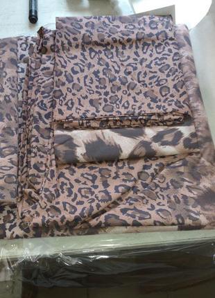 Постельное белье ранфорс леопардовый принт