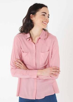 Розовая рубашка terranova