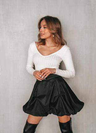 Юбка черная женская тюльпан костюмная ткань