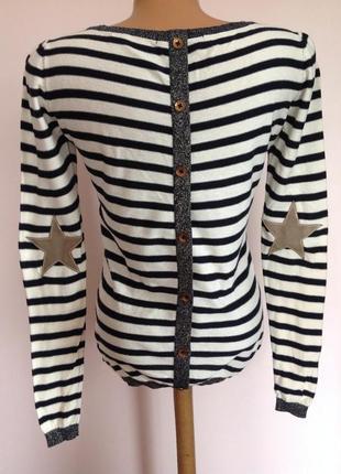 Оригинальная фирменная полосатая блузка - футболка / s/ brend maison scotch