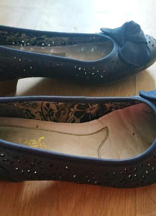 Шкіряні туфлі rieker antistress 38