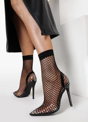 Туфли 🔥 тренд этого лета на шпильке острый носок в сетку прозрачные