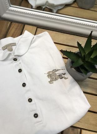 Поло барбери белый футболка  рубашка оригинал burberry brit