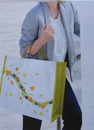 Лимитированная большая яркая сумка для шопинга или пляжа шоппер от yves rocher