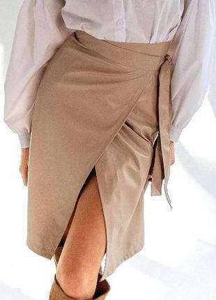 Стильная юбка экокожа