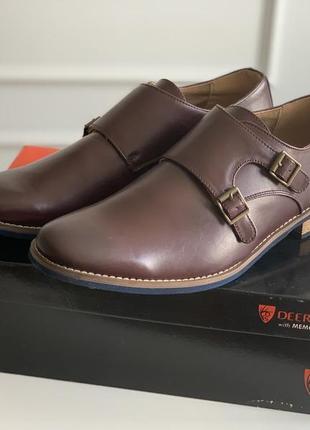 Коричневые монки туфли 45 р новые