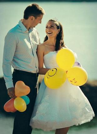 Весільне коротке оригінальне плаття
