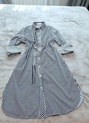 Платье  рубашка на пуговицах рукав,  размер оверсайс, длина миди