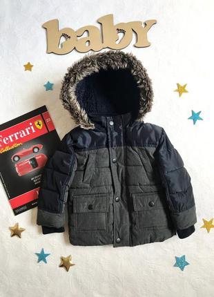 Стильная теплая куртка/парка с капюшоном primark