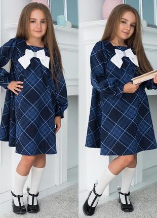 Школьное платье в клетку шотландка школьная форма