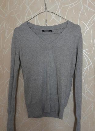 Светло-серый тонкий свитер atmosphere