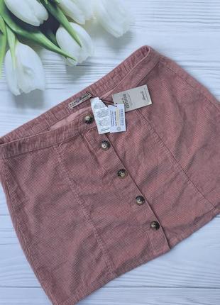 Классная вельветовая юбка на пуговицах denim co