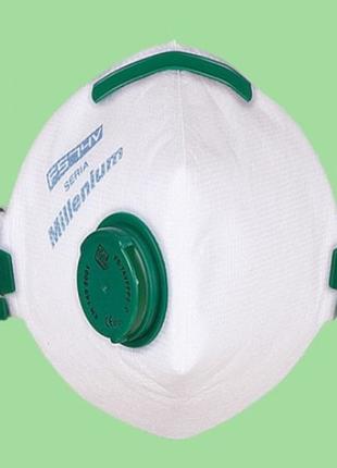 Ffp2 защитная маска респиратор fs74v millenium с клапаном выдоха оригинал poland