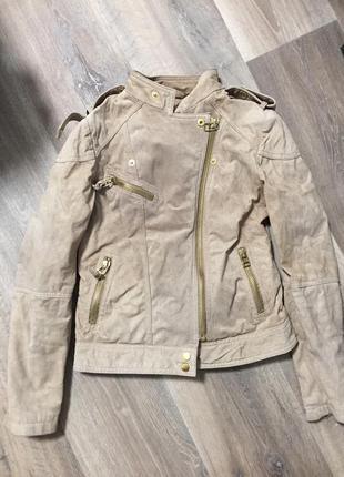 Косуха, куртка короткая беж