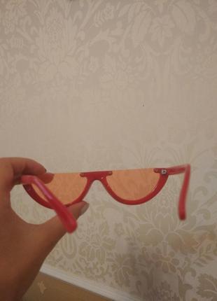 Красные очки половинки3 фото