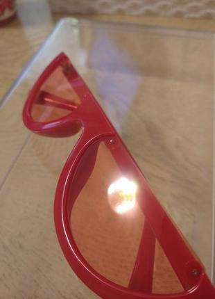 Красные очки половинки6 фото