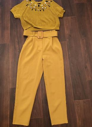 Костюм брюки   вязанная футболка