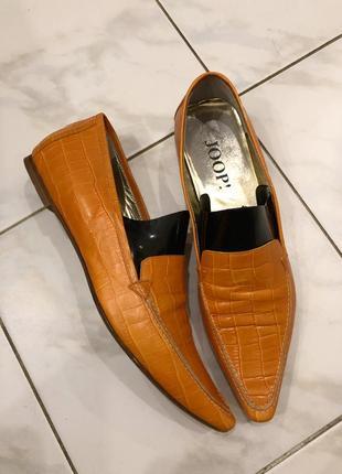 Туфли кожаные под кожу крокодила joop , оригинал