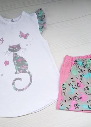 Костюм  для девочки/ майка и шорты детские / летняя распродажа / в наличии 86, 92, 98, 104
