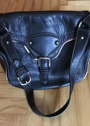 Burberry-эксклюзив, кожаная сумка, оригинал!
