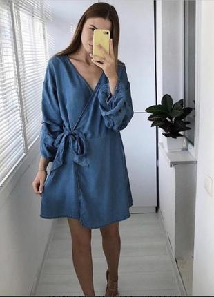 Джинсовое платье zara сарафан