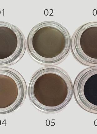 Помада для бровей malva cosmetics gel eyebrow (01) dark brown