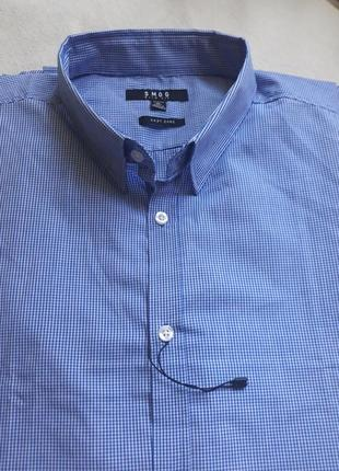 Новая мужская рубашка smog new yorker slim fit размер xl