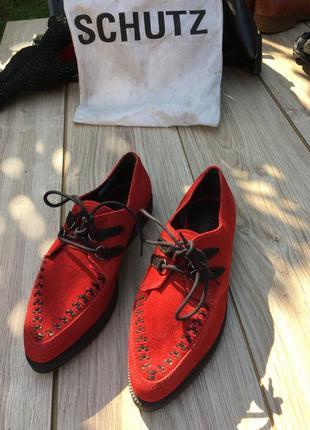 Стильные актуальные туфли кеды мокасины schultz