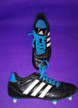 Шкіряні бутси футбольні adidas