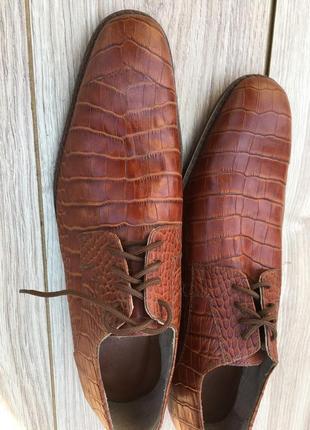 Стильные актуальные кожаные туфли massimo dutti brioni disquared 2 тренд крокодил