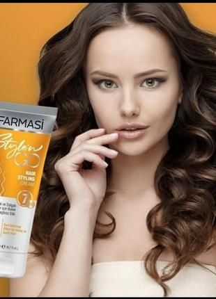 Крем-стайлинг для кудрявых волос farmasi