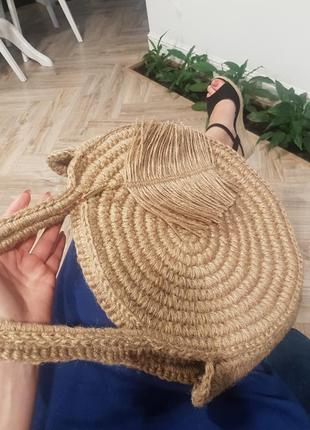 Сумка  плетеная из джута