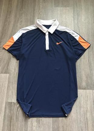 Мужская синяя футболка-поло nike .original !